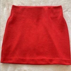BCBGeneration Red Mini Skirt